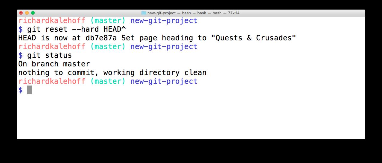 Udacity Git 6 4b The Git Reset Command Silicon Valley Math Tutor
